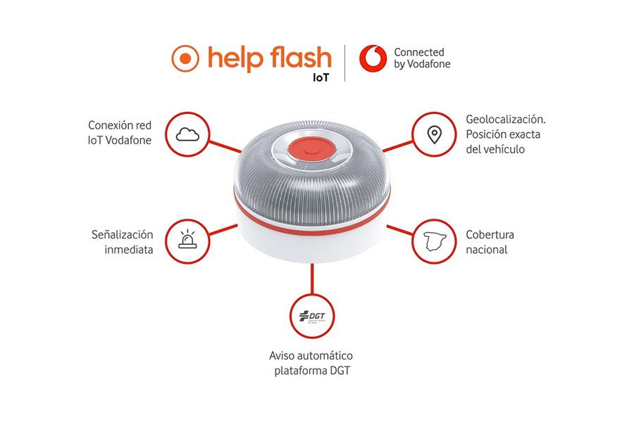 Helpflash, Vodafone conectará los dispositivos luminosos de emergencia en carretera